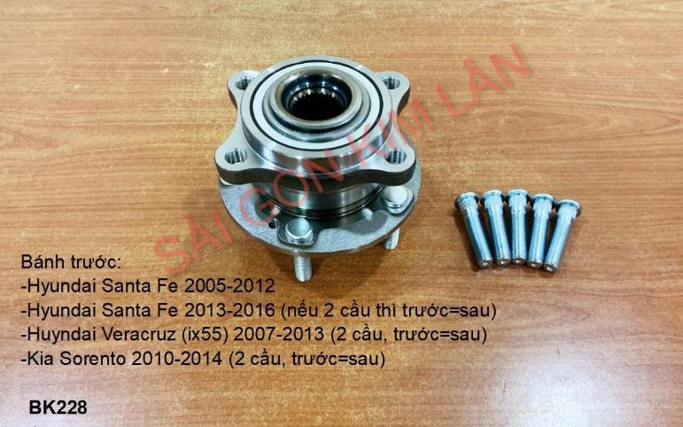 Bạc đạn bánh Huyndai Veracruz (ix55) 2007-2013 (2 cầu, Bạc đạn bánh trước=Bạc đạn bánh sau)