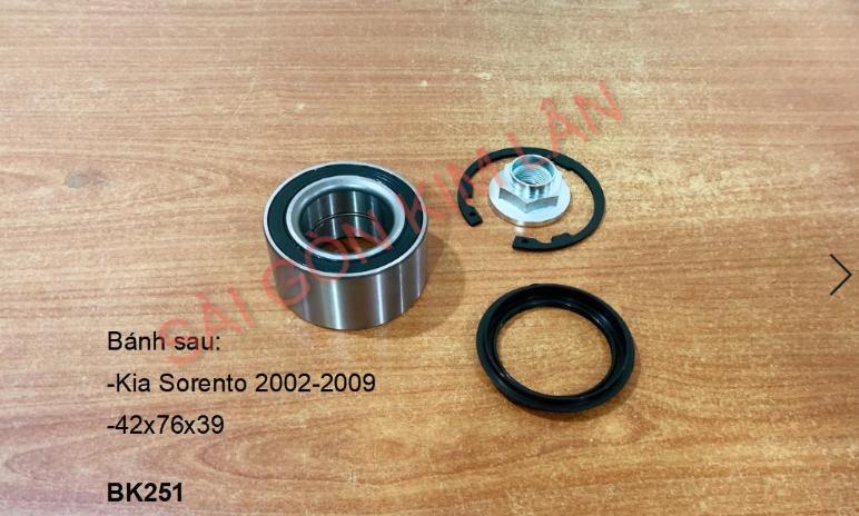Bạc đạn bánh Kia Sorento 2002-2009