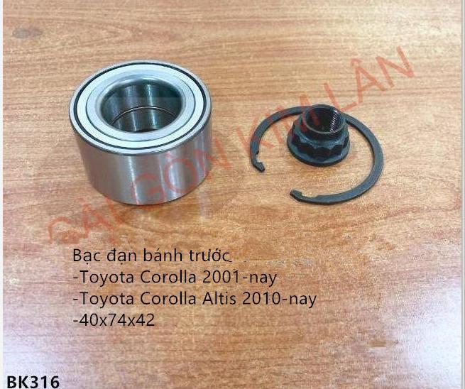 Bạc đạn bánh Toyota Corolla 2001-nay