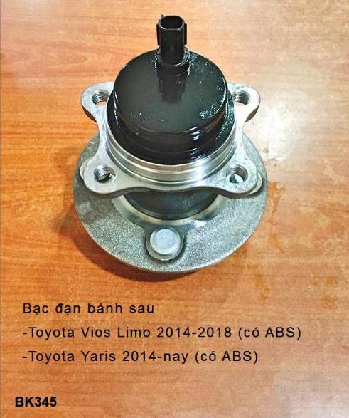 BẠC ĐẠN BÁNH Toyota Yaris 2014-nay (có ABS)