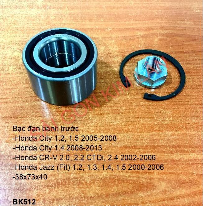 Bạc đạn bánh Honda City 1.2, 1.5 2005-2008