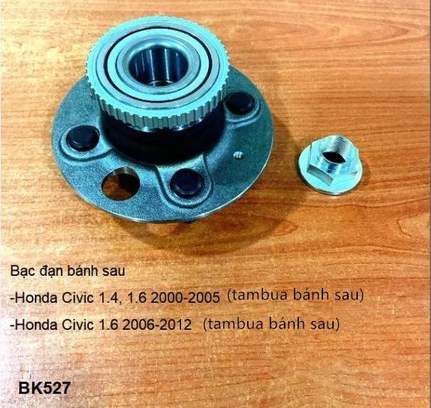 BẠC ĐẠN BÁNH Honda Civic 1.6 2006-2012 (tambua bánh sau)