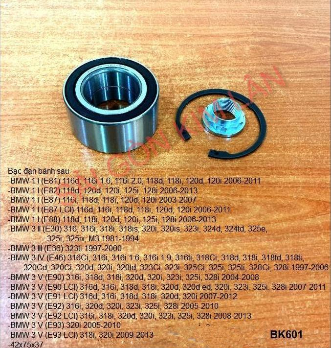 Bạc đạn bánh BMW 1 I (E81) 116d, 116i 1.6, 116i 2.0, 118d, 118i, 120d, 120i 2006-2011