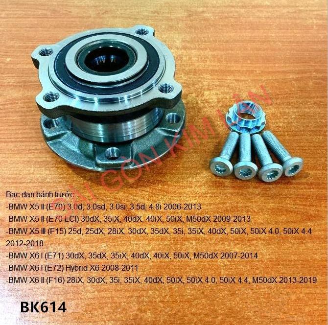 Bạc đạn bánh BMW X6 I (E71) 30dX, 35dX, 35iX, 40dX, 40iX, 50iX, M50dX 2007-2014