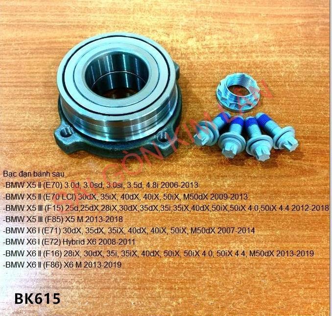 Bạc đạn bánh BMW X6 I (E71) 30dX, 35dX, 35iX, 40dX, 40iX, 50iX,M50dX 2007-2014