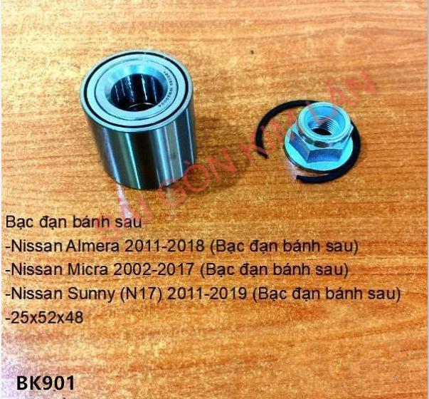 Bạc đạn bánh Nissan Micra 2002-2017 (Bạc đạn bánh sau)